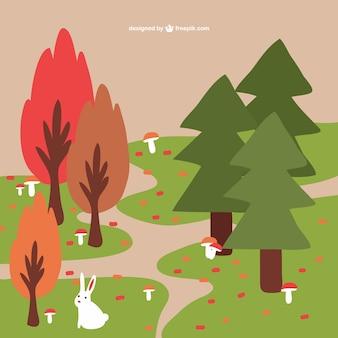 Herbst wald hintergrund
