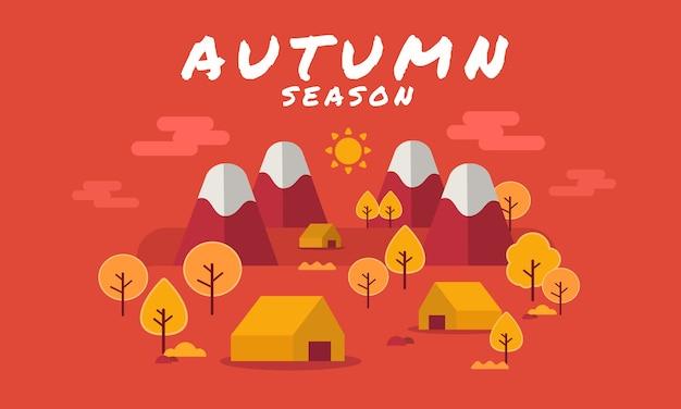 Herbst wald landschaft hintergrund mit herbstlaub