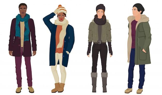 Herbst winter mode stilvolle menschen