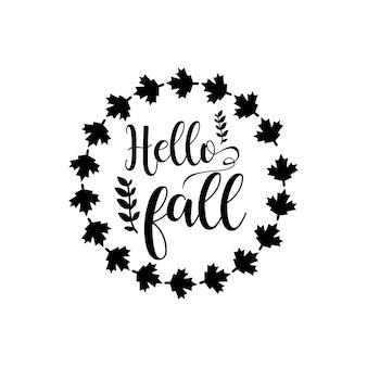 Herbst zitiert svg-schriftzug-design-vektor