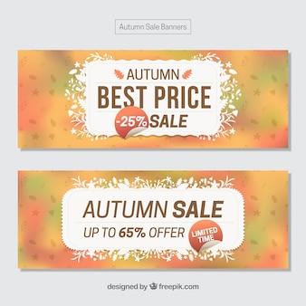 Herbstangebot banner mit abstrakten stil