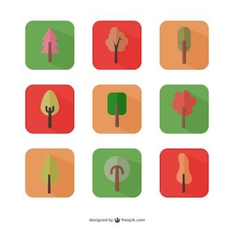 Herbstbäume symbole