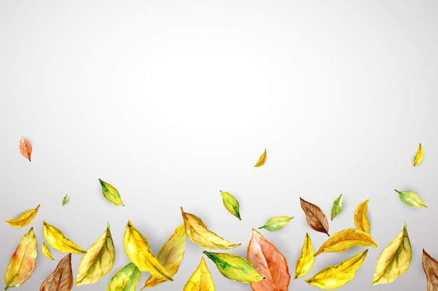 Herbstbanner mit gelbbraunen blättern