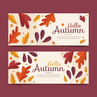 Herbstbanner-schablonenthema