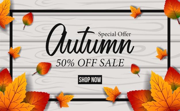 Herbstblätter fallen angebot bieten vorlage