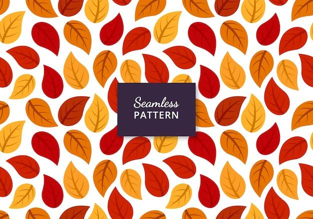 Herbstblätter nahtloses muster