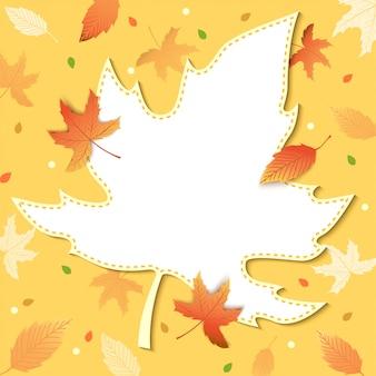 Herbstblattrahmen
