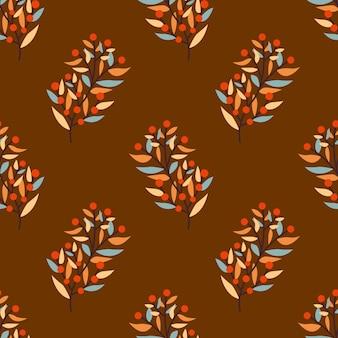 Herbstblumenblätter nahtloser vektorhintergrund