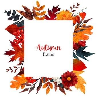 Herbstblumenfahnenentwurfsschablone hand gezeichnet