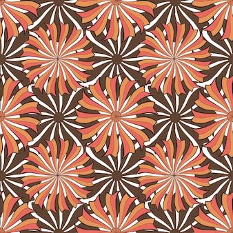 Herbstblumenmuster. vektornahtlose hintergrundbeschaffenheit. modedruck für verpackungsdesign aus textilgewebe