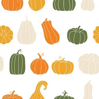 Herbstdruck mit kürbissen thanksgiving-zeit-vorlage