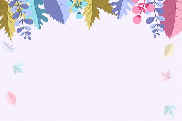 Herbsthintergrund für herbstsaison-verkaufsfahne