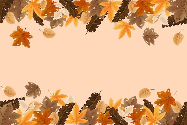 Herbsthintergrund im flachen design