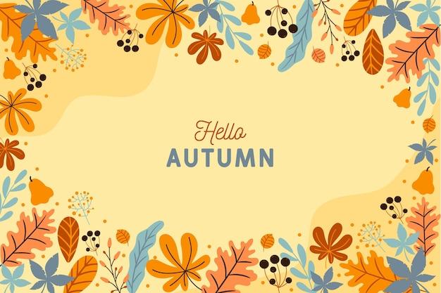 Herbsthintergrund mit blättern