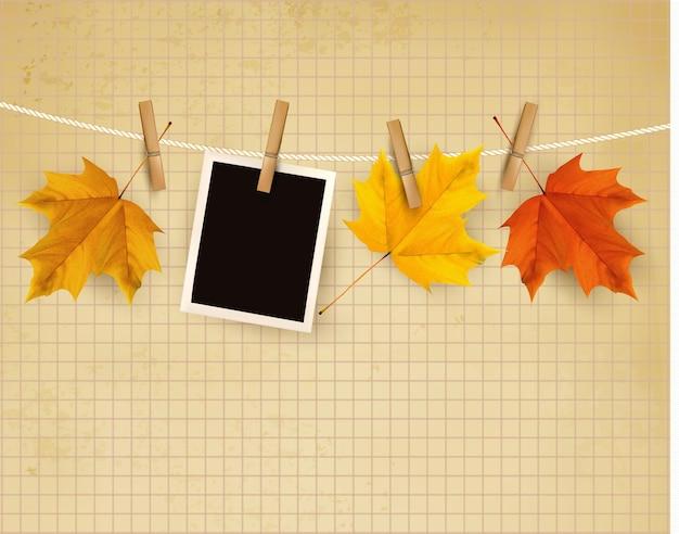 Herbsthintergrund mit bunten blättern.