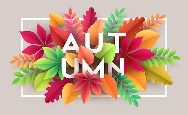 Herbsthintergrund mit herbstlaub