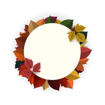 Herbsthintergrund mit rundem leerem zeichen