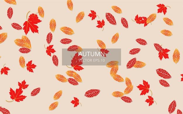 Herbsthintergrund, realistischer herbsthintergrund