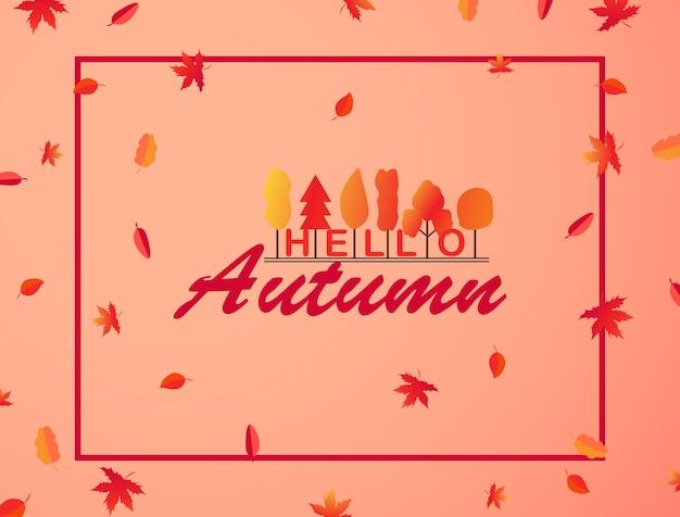 Herbsthintergrunddesign und blätter der pappelfliege