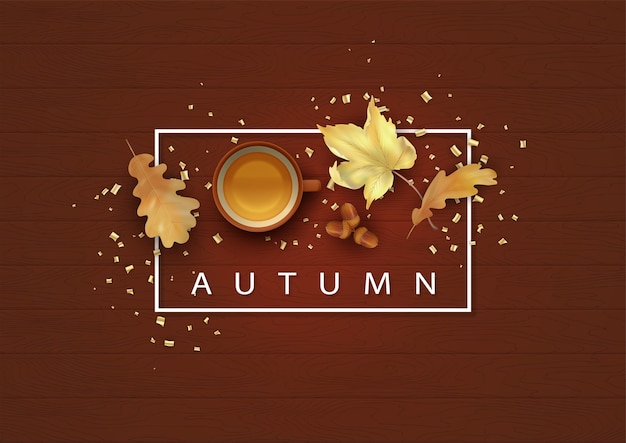 Herbsthintergrundillustration