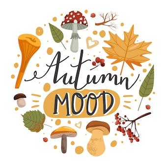 Herbstillustration.