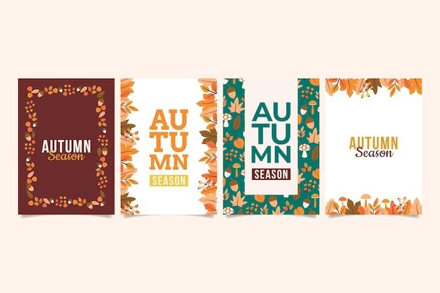 Herbstkartenkollektion