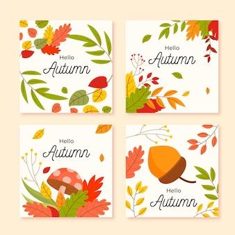 Herbstkartensammlung