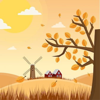 Herbstlandschaft illustration