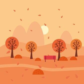 Herbstlandschaft oktober monat. minimaler trendiger stil