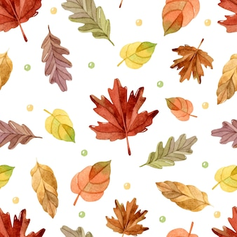Herbstlaub aquarell nahtlose muster