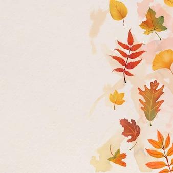 Herbstlaub beige hintergrundvektor