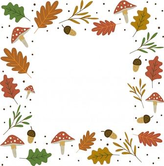 Herbstlaub frame hintergrund