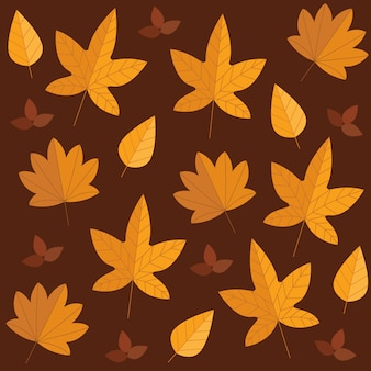Herbstlaub gesetzt isoliert