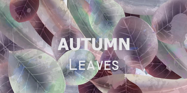 Herbstlaub-hintergrundaquarell