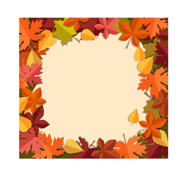 Herbstlaub leeren rahmen