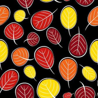 Herbstlaub nahtlose muster hintergrund vektor illustration eps10