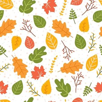 Herbstlaub nahtloses muster