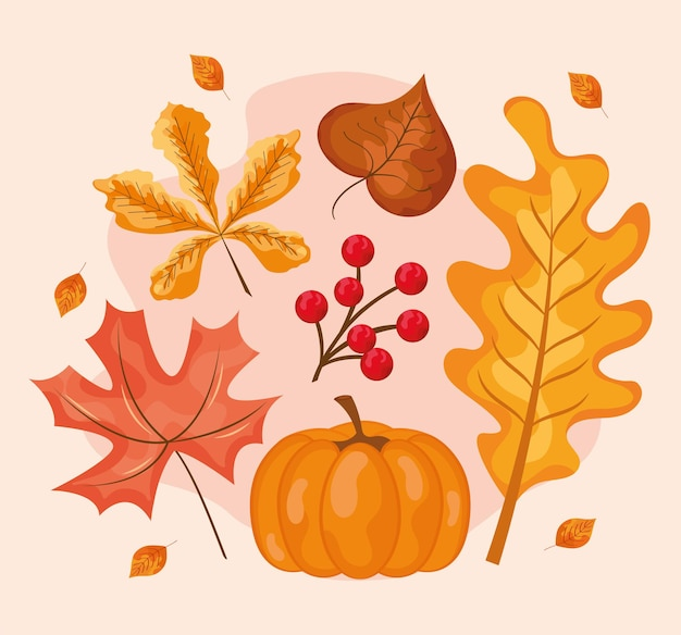 Herbstlaub natur