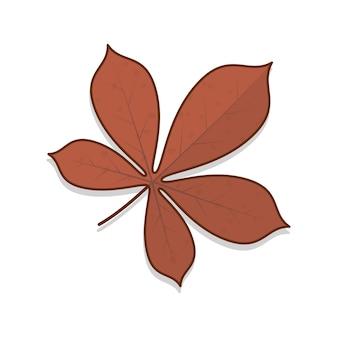 Herbstlaub vektor icon illustration. herbstlaub oder herbstlaub thema flaches symbol