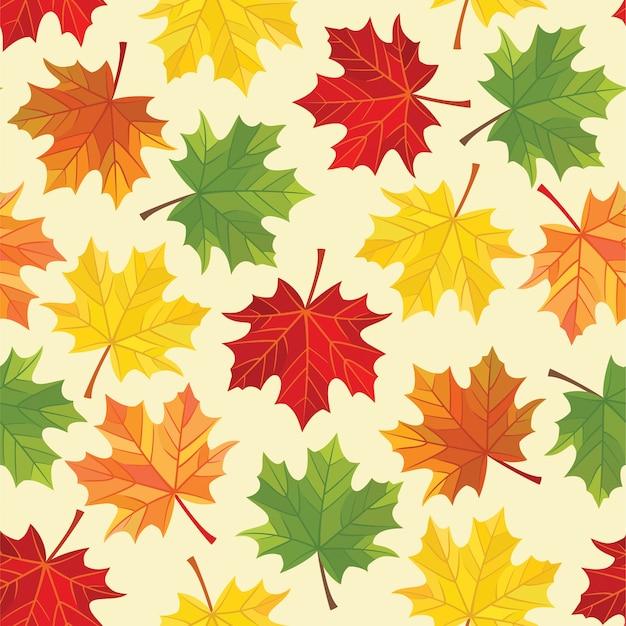 Herbstlaubmuster. nahtlos.