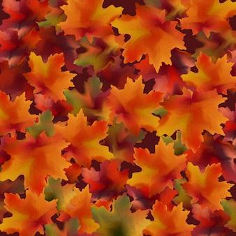 Herbstlaubmusterhintergrund. realistische vektor illustrationen