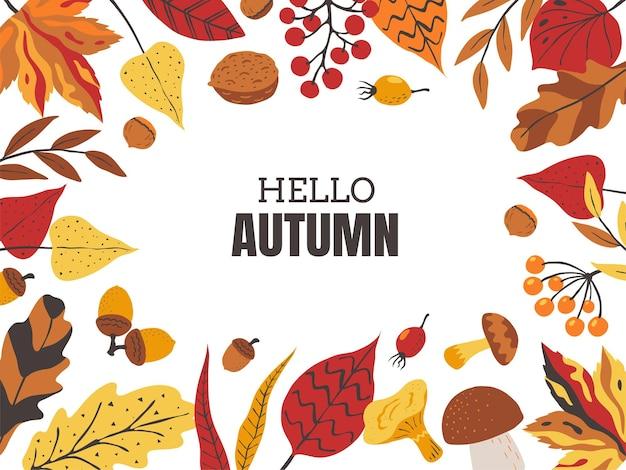 Herbstlaubrahmen