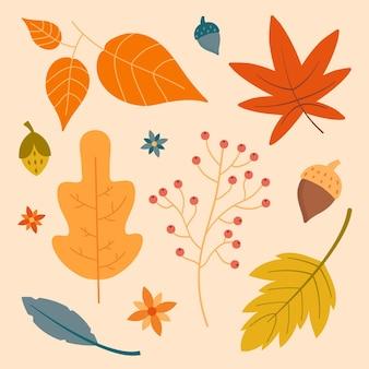 Herbstlaubsammlung Kostenlosen Vektoren