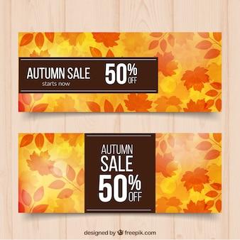 Herbstliche banner mit rabatten