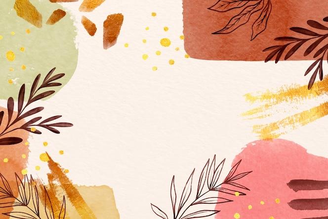 Herbstliche schatten des kopierraums lassen hintergrund