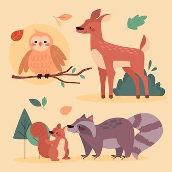 Herbstliche tierkollektion
