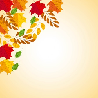 Herbstlicher hintergrund mit blättern