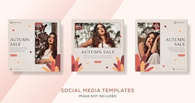 Herbstmode verkauf quadratische banner post pack.