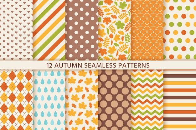 Herbstmuster. blumen- und geometrische textur.