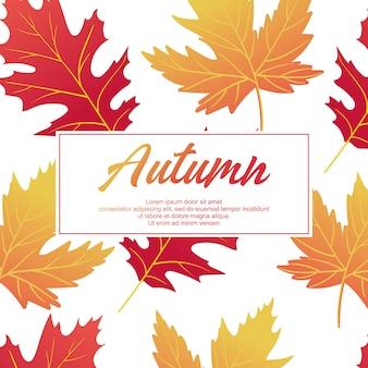 Herbstmuster hintergrund